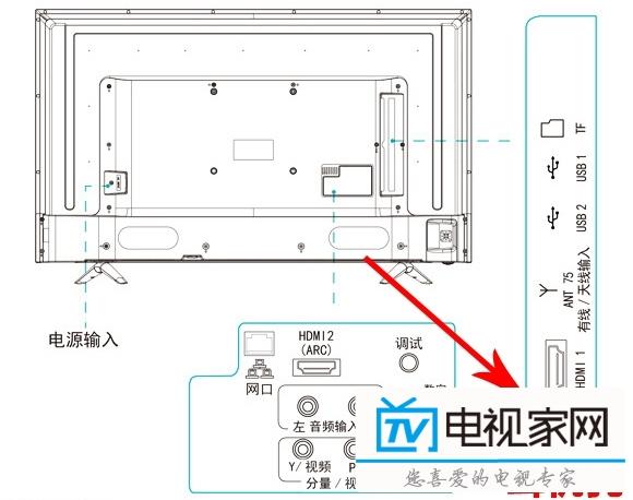 海信led49ec320a智能电视接麦克风k歌插话筒卡拉ok唱歌 .
